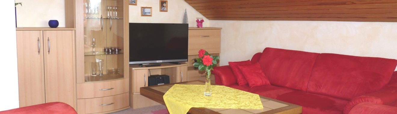 Ferienwohnung im DG Wohnzimmer