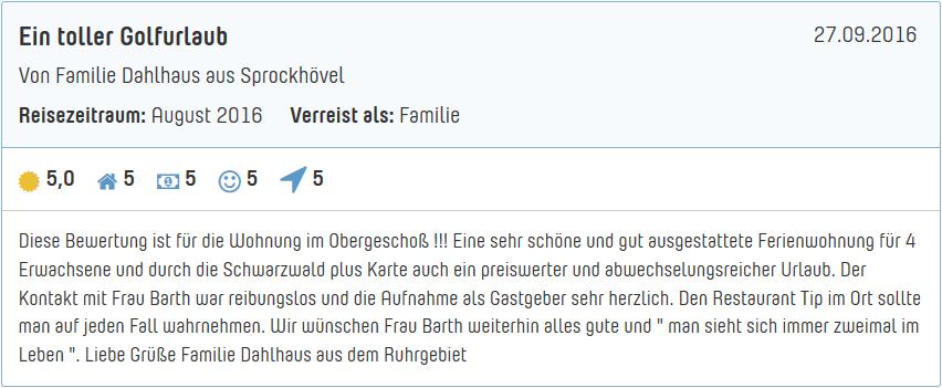 4 Ferienwohnung In Freudenstadt Frutenhof Eg Haus Sieglinde