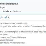 Bewertung EG bei Traumferienwohnung.de